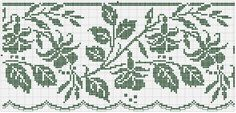 Border 63 | Free chart for cross-stitch, filet crochet | Chart for pattern - Gráfico