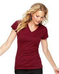 LAT - Junior Fit Fine Jersey V-Neck Longer Length T-Shirt @Hanger 17 Screen Printing #ScreenPrinting