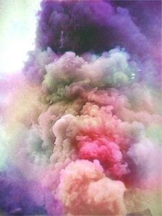 Fumée de couleur