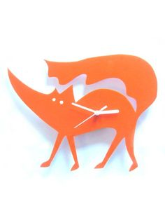 Fox clock Hunky Dory Home
