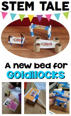 Fairy Tale: STEM Activity for Kids - use a familiar fairy tale to work through the engineering design process. A new bed for Goldiocks is perfect for your little engineers in grades Ask Imagine Plan Create Improve Stem Science, Preschool Science, Teaching Science, Life Science, Primary Science, Steam Activities, Science Activities, Activities For Kids, Science Books