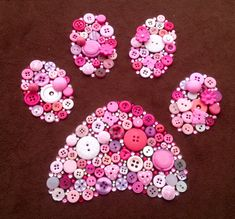 Dog paw button art                                                                                                                                                                                 More