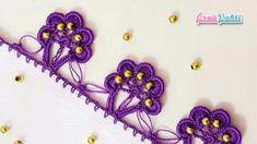 SIRALI TIĞ OYASI YARIM HALKA MODELİ YAPILIŞI ANLATIMLI TÜRKÇE VİDEOLU | ÖRGÜVAKTİ Tatting, Crochet Necklace, Hair Accessories, Embroidery, Model, Pattern, Beauty, Kitchen, Crochet Collar