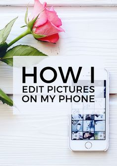 How I edit pictures on my iPhone including VSCO & Afterlight App.
