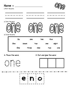 Writing Numbers in Words Worksheets | Numbers Worksheets and ...
