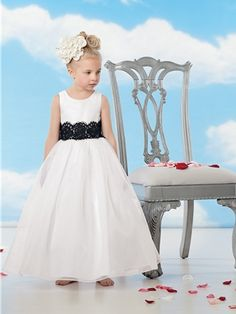 9ad1243a5e6a Cheap satin flower girl dresses, Buy Quality flower girl dresses directly  from China satin dress girl Suppliers: White Satin Flower Girl Dresses For  ...