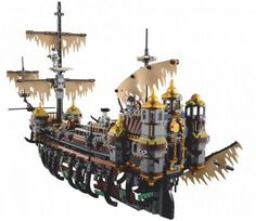 Cheap pirates of caribbean, Buy Quality pirates of the caribbean directly from China block toys Suppliers: 2018 Classic Movie Pirates of the Caribbean Jack The Slient Mary Ghost Large Ship Boat Model Building Blocks Toys For Children Model Building Kits, Building Blocks Toys, Lego Building, Legos, Brick Show, Lego Boat, Bateau Pirate, Lego Ship, Lego Worlds
