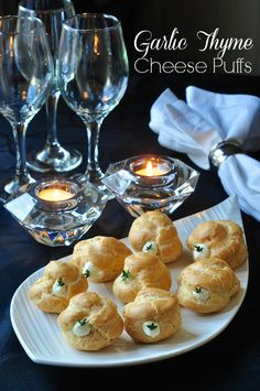 Choux pastry cheese puffs need not be intimidating. Find the best tips for perfect puffs and a versatile, creamy cheese filling with roasted garlic & thyme.  #BeEggsquisite