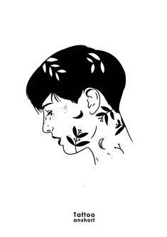 Dark Drawings, Simple Line Drawings, Outline Drawings, Pencil Art Drawings, Drawing Sketches, Mini Canvas Art, Poetry Art, Drawing Expressions, Boy Art
