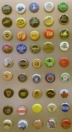 DIY Bottle Cap Magnet  Something to do with all the random caps I collect for apparently no reason until now.