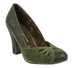 Great mixed textures on the B.A.I.T. Viola Pumps in Green!!