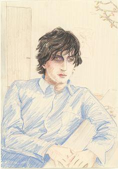 Elizabeth Peyton. Marc (April). (2003). Colored pencil on paper.