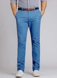 Slim Faded Blue Washed Chinos for Men | Bonobos
