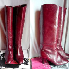 Vintage Arnoldo MARCELLA Leather Knee Boots Italy / by GoodEye