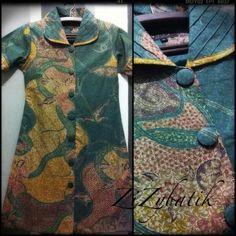 batik blouse with long sleeve