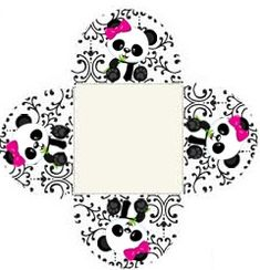 Professora Tati Simões: Kit Panda Preto, branco e rosa para imprimir grátis Panda Themed Party, Panda Birthday Party, Panda Party, 9th Birthday, Birthday Parties, Felt Crafts, Diy And Crafts, Panda Icon, Baby Shower Princess
