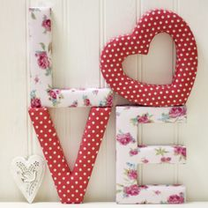 Love Letters - we love this! buy the heart on it's own, or use it to create a word!