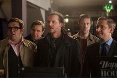 Simon Pegg, Nick Frost, Martin Freeman, Eddie Marsan y Paddy Considine