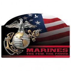 US Marines Flag 11x17 Wood Sign