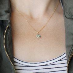 floret necklace by elephantine on Etsy