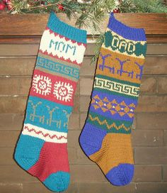 Fun stockings to knit for Christmas!