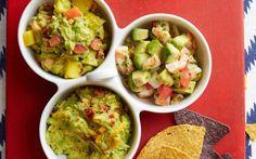 Take a Dip: 3 Remixed Guacamole Recipes Avocado Egg Recipes, Guacamole Recipe, Appetizer Dips, Appetizer Recipes, Bacon, Mexican, Peach, Spicy Shrimp, Snacks