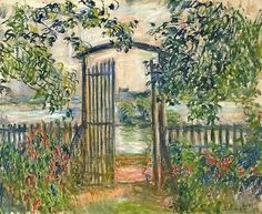 1881, Claude Monet The garden gate at Vetheuil, private collection, 60 x 73 cm