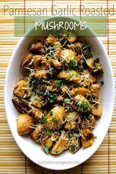 Most Popular Low Carb Recipe Roundup, June 22 – 2015 Parmesan Garlic Roasted Mushrooms Side Dish Recipes, Vegetable Recipes, Low Carb Recipes, Vegetarian Recipes, Dinner Recipes, Cooking Recipes, Healthy Recipes, Potato Recipes, Vegetable Ideas