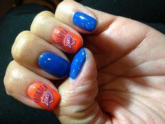 Okc thunder nail design nail designs pinterest beauty thunder up prinsesfo Images