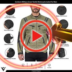 Viking Cycle Ironborn Protective Textile Motorcycle Jacket for Men Waterproof Breathable CE Approved Armor for Bikers Military Green Large in Williamsburg ok6hlc5m49f Motorcycle Rain Suit, Motorcycle Seats, Smoothie Machine, Beginner Skateboard, Play Kitchen Accessories, Hygge Book, Rain Pants, Good Grips, Bikers