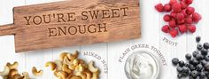 You're sweet enough - sugar-free snacks and tips Sugar Free Snacks, Bamboo Cutting Board, June, Health, Sweet, Tips, Candy, Health Care, Advice