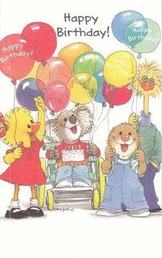 ┌iiiii┐                                                           Happy Birthday                                              Suzy's zoo
