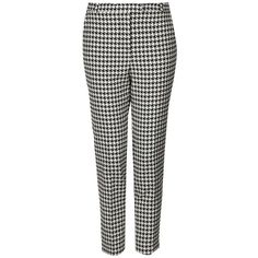 Women's Topshop Houndstooth Cigarette Trousers ($79) ❤ liked on Polyvore featuring pants, trousers, bottoms, calças, jeans, houndstooth pants, cropped trousers, houndstooth trousers, print pants and patterned trousers