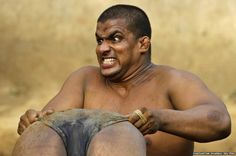 June 13, 2012: Kushti (mud wrestling) is a traditional sport in India but many young athletes are now training to wrestle on mats to gain access to top international competitions.