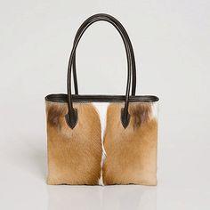 Deanne Springbok Handbag  Leather Handbag Springbok Fur bag