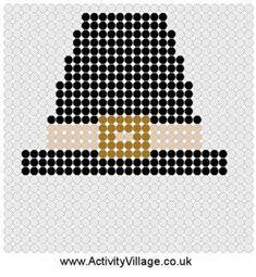 Pilgrim Hat Fuse Bead Pattern