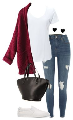 """""""#234"""" by mintgreenb on Polyvore featuring River Island, Simplex Apparel, WithChic and Common Projects"""