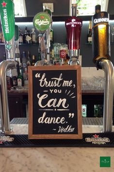 Trust me you can dance - We love DIY signs in our Butler's Rest! Wedding Spot, Post Wedding, Small Intimate Wedding, Diy Signs, Guinness, Ireland, Trust, Dance, Make It Yourself
