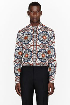 ALEXANDER MCQUEEN Orange stained glass print