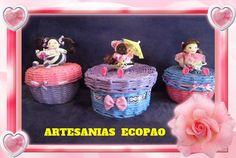 Cesta con tapa - Artesanias Ecopao