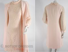 60s/70s Peach Lace Mod Dress and Sleeveless Jacket by BeeDeeVintage, $50.00 https://www.etsy.com/listing/125782519/60s70s-peach-lace-dress-and-sleeveless