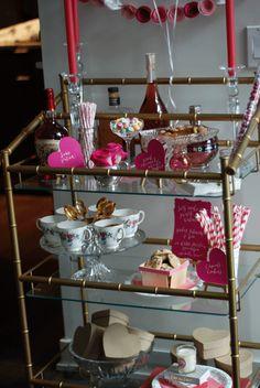 Valentine's Day Bar Cart Design