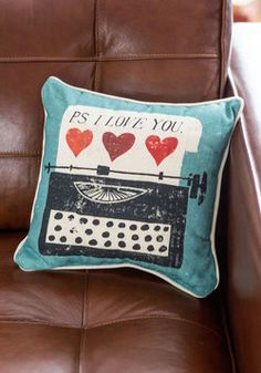 Keys to Your Heart Pillow, #ModCloth