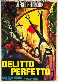 """Movie Posters:Hitchcock, Dial M for Murder (Warner Brothers, R-1960s). Italian 2 - Foglio(39"""" X 55"""").. ... Image #1"""