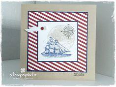 Stempelplatz, maritim, Geburtstagskarte, The Open Sea, Gutschein, Designerpapier