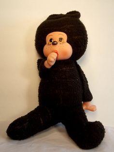 Thumb Sucking Monkey Vintage Stuffed Animal by OnceAgainTreasure