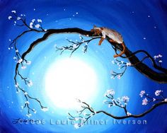 Flame Point Siamese Cat in Cherry Blossoms Original Acrylic Painting by Laura Milnor Iverson