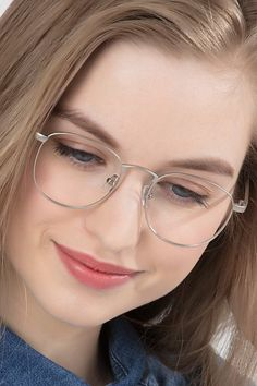 Silver square eyeglasses available in variety of colors to match any outfit. These stylish full-rim, small sized metal eyeglasses include free single-vision prescription lenses, a case and a cleaning cloth. Running Sunglasses, Mens Sport Sunglasses, Sunglasses Sale, Cheap Eyeglasses, Round Eyeglasses, Eyeglasses For Women, Cute Glasses, Glasses Frames, John Lennon Glasses