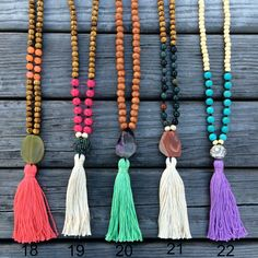 Grace agate - beaded necklace #tassel #necklace #long #beaded #agate #bohemian #jewelry #bohemian #boho