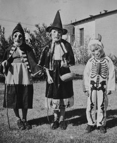 Vintage Halloween photo of witches and skeleton. Does it really get any better? NO. This is the best.